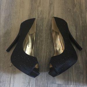 NEW Express peep toe black heels
